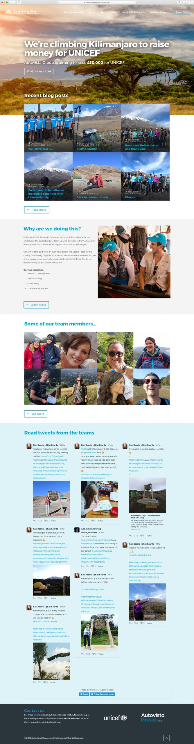 Kilimanjaro–Website